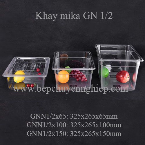 khay mika nhựa gn 1/2, khay 1/2, pc food pan, pc food tray 1/2