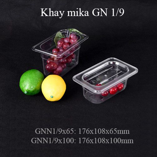 khay mika nhựa gn 1/9, khay 1/9, pc food pan, pc food tray 1/9, topping 1/9