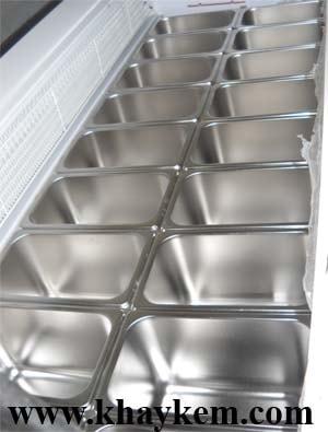 khung inox tu kem, khung inox đặt trong tủ kem