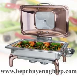 nồi buffet, noi buffet, nồi buffet oblong vàng đồng, noi bupphe, nồi hâm nóng thức ăn nắp hơi, noi buffet nap ben
