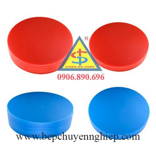 thớt nhưa tròn pe, thớt nhựa công nghiệp tròn, thớt nhựa tròn đủ màu, bộ thớt nhựa 6 màu
