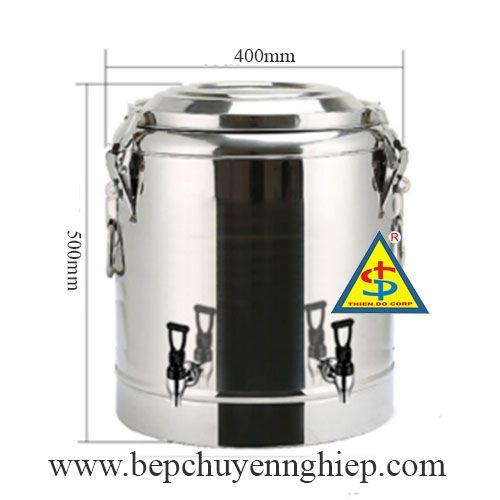 thùng inox 50 lít, thùng giữ nhiệt 50 lít, thùng inox 2 vòi, thùng cách nhiệt 50 lít, thùng inox giữ nhiệt 50 lít 2 vòi