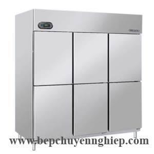 Tủ lạnh 6 cửa công nghiệp, tủ mát 6 cánh, tủ mát 6 cửa, tủ mát công nghiệp, tu mat cong nghiep