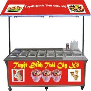 xe bán trái cây xô, xe để bán trái cây xô tự chọn