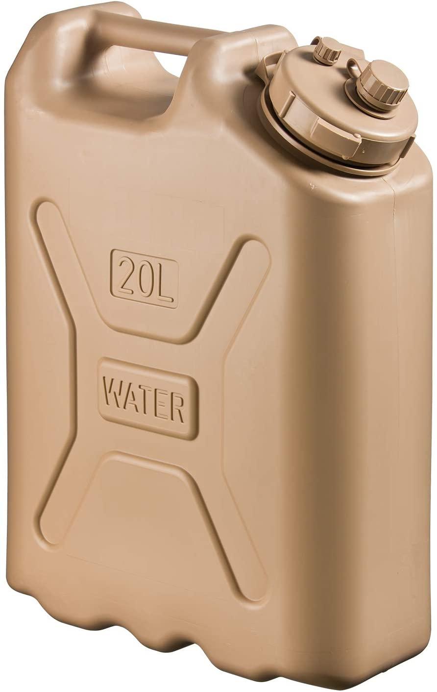Bình nước Scepter BPA Durable 5 Gallon 20 Liter Portable Water Storage Container - Tan