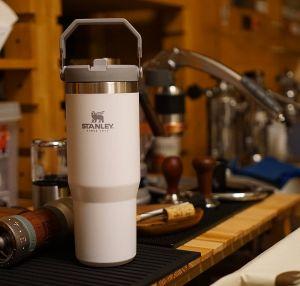 Cốc giữ nhiệt Stanley THE ICEFLOW FLIP STRAW TUMBLER (30oz) - Polar White