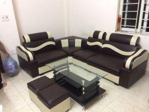 Sofa góc họa tiết cong giá rẻ