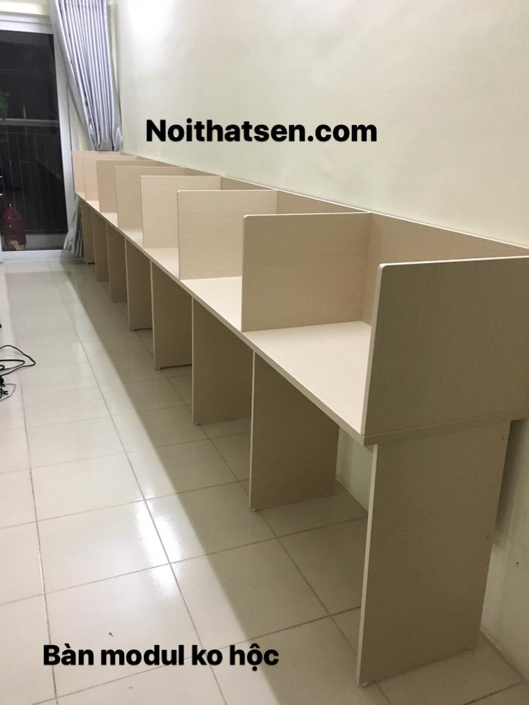 Bàn làm việc modul gỗ không hộc hàng sản xuất giá gốc
