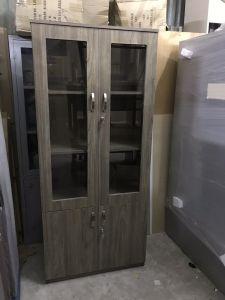 Tủ tài liệu gỗ 2 cánh kính màu vân tối mới 100% giá rẻ