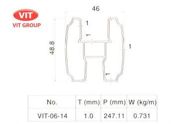 Nhôm vách vệ sinh VIT-0614