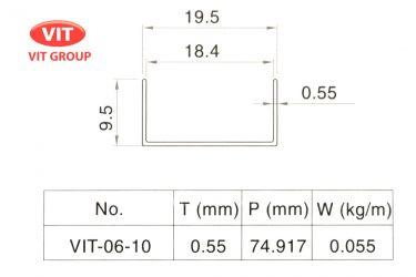Nhôm vách vệ sinh VIT-0610