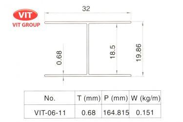 Nhôm vách vệ sinh VIT-0611