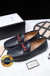 Giày Da Nam Hàng Hiệu GUCCI Mẫu Mới 2018, Mã Số BC1104