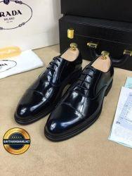 Giày Da Nam Hàng Hiệu Cao Cấp PRADA 2018, Mã Số BC1077