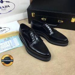 Giày Da Nam Hàng Hiệu Cao Cấp PRADA 2018, Mã Số BC1080