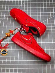 Giày đế bằng thời trang Nike màu đỏ độc, mã số BCK015
