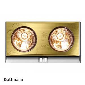 Đèn sưởi Kottmann K2B-G 2 bóng vàng/bạc