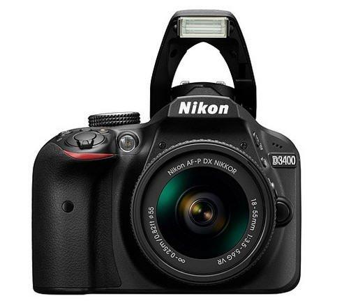Nikon D3400 (NIKKOR DX 18-55mm F3.5-5.6 G VR) Lens Kit - Black