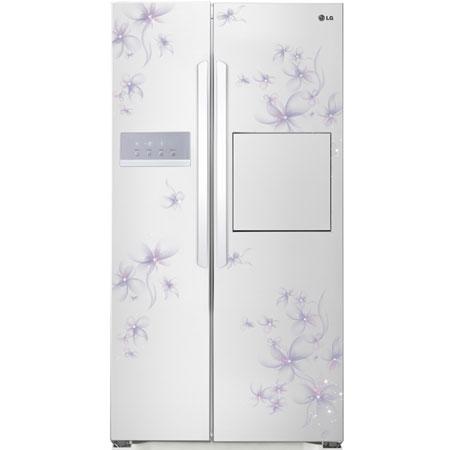 Tủ lạnh SBS LG 524L GR-R227GF Trắng hoa tím