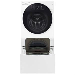 Máy giặt sấy LG TWINWash Inverter 10.5 kg FG1405H3W1 & TG2402NTWW