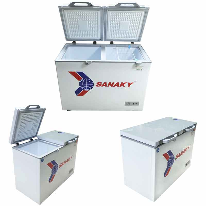Tủ đông Sanaky VH-3699W2KD Dàn đồng 2 ngăn, mặt kính cường lực