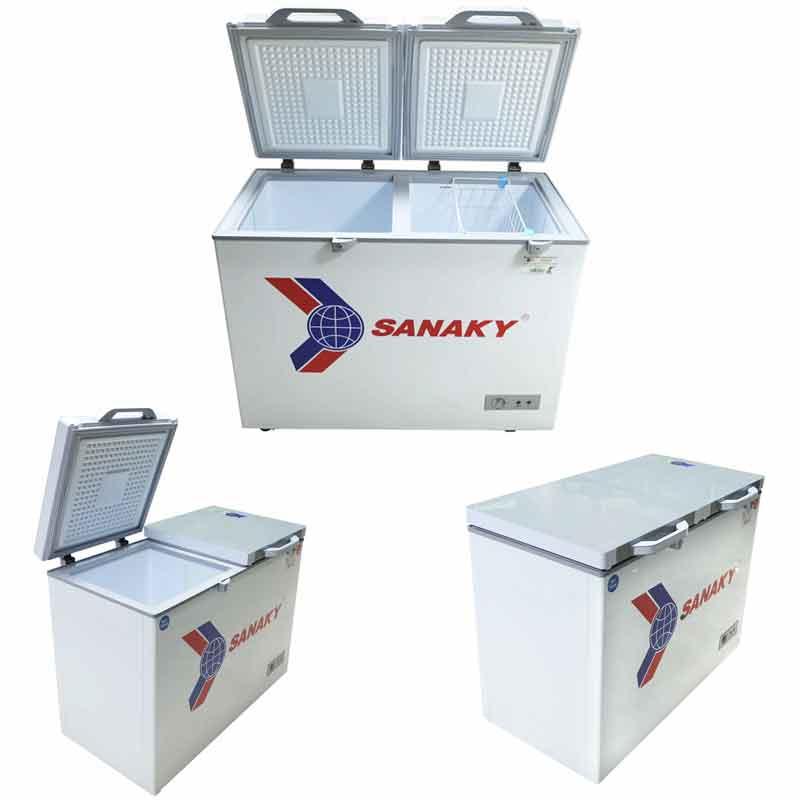 Tủ đông Sanaky VH-4099W2K Dàn đồng 2 ngăn  mặt kính cường lực
