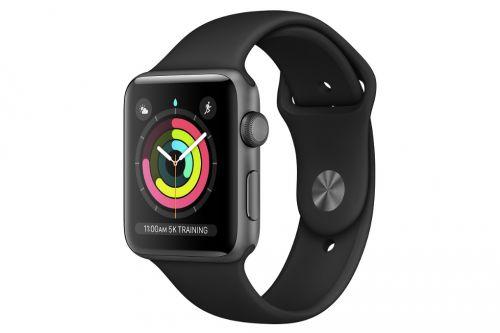 Apple Watch S3 GPS 38mm viền nhôm dây cao su đen