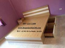 giường gỗ có ngăn kéo GG1220