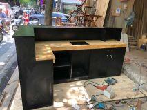 bàn quầy bar đen BQĐ3