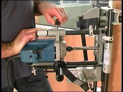 Máy chế biến gỗ cầm tay: Máy khoan ổ khóa, bản lề, lỗ mộng, sửa góc cạnh