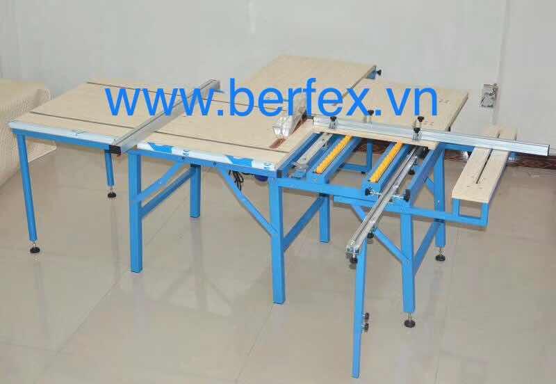 Máy cưa bàn trượt 2 lưỡi dùng cho các xưởng nhỏ và tự làm nội thất