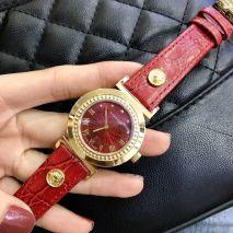 Đồng hồ Dây Da Versace Viền Gỉa Đá
