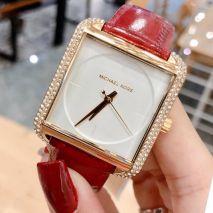 Đồng hồ Michael Kors Dây Da Mặt Vuông