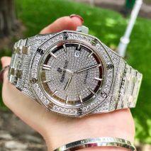 Đồng Hồ Audemars Piguet 3Kim Full Diamond Chạy Cơ