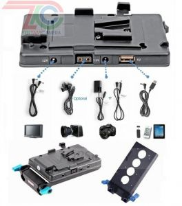 Đế gắn pin Vmount for BMCC/5D2 Camera