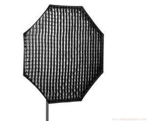 Softbox tổ ong bát giác EM150 cm ( lưới vải )