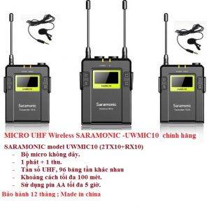 SARAMONIC UWMIC10 (2TX10+RX10)  ( Model 2017 )