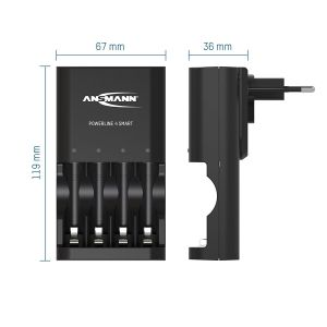 Sạc Ansmann Powerline 4 Smart