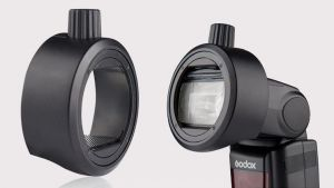 Godox Round Head Accessories AK-R1's Adapter  for Godox  V860II&TT685&TT600