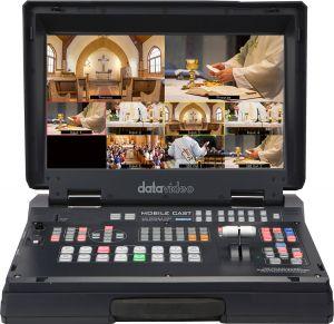 Data video HS-1300 6 cổng đầu vào (bộ trộn video 6 kênh di dộng)