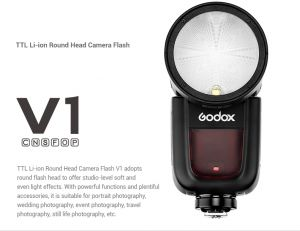 Flash Godox V1 for canon , nikon , sony