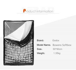 Softbox Tổ Ong Godox 60x90
