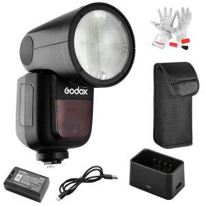 Đèn Flash Đầu Tròn Godox V1 For Sony