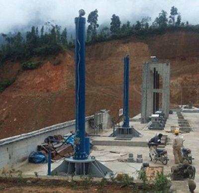 Hệ thống thủy lực nâng hạ cửa nhận nước - Thủy điện sông Miện 5A