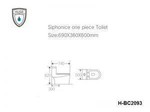 Bàn cầu một khối (H-BC2093)