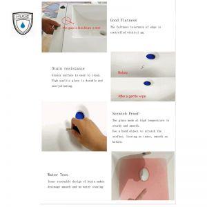 Chậu rửa (lavabo) bán âm (H-LB1605)