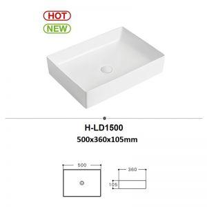 Chậu rửa (lavabo) đặt bàn (H-LD1500)
