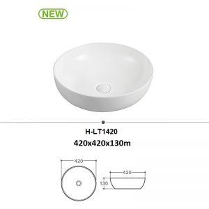 Chậu rửa (lavabo) đặt bàn tròn (H-LT1420)