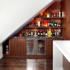 Tủ rượu gầm cầu thang 03
