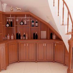 Tủ rượu gầm cầu thang 04